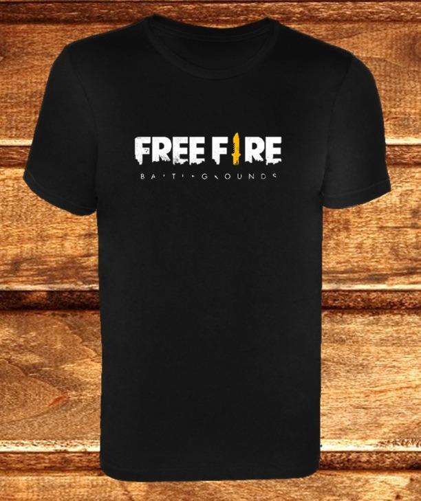 Playera Videojuego Free Fire Logo Para Hombre Y Mujer