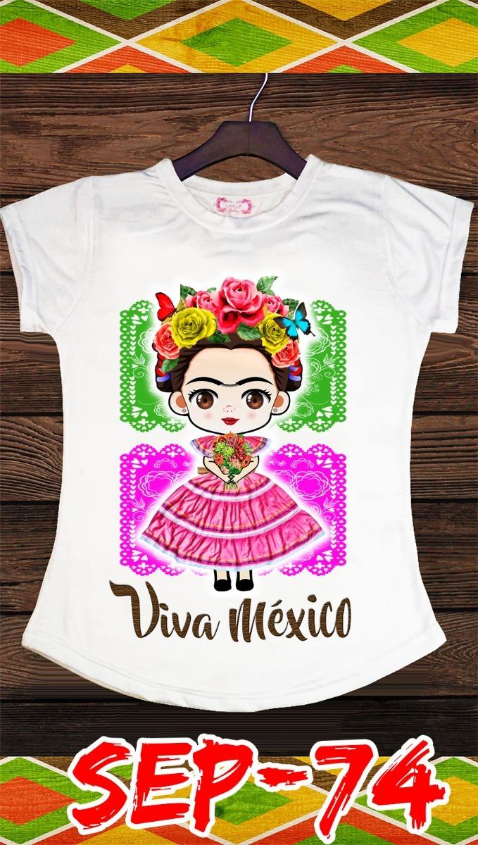 190314b269 Playera Viva México Frida Kahlo!!! -   150.00 en Mercado Libre
