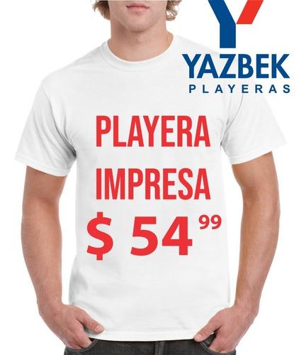 playera yazbek blanca personaliza impresa, servicio urgente