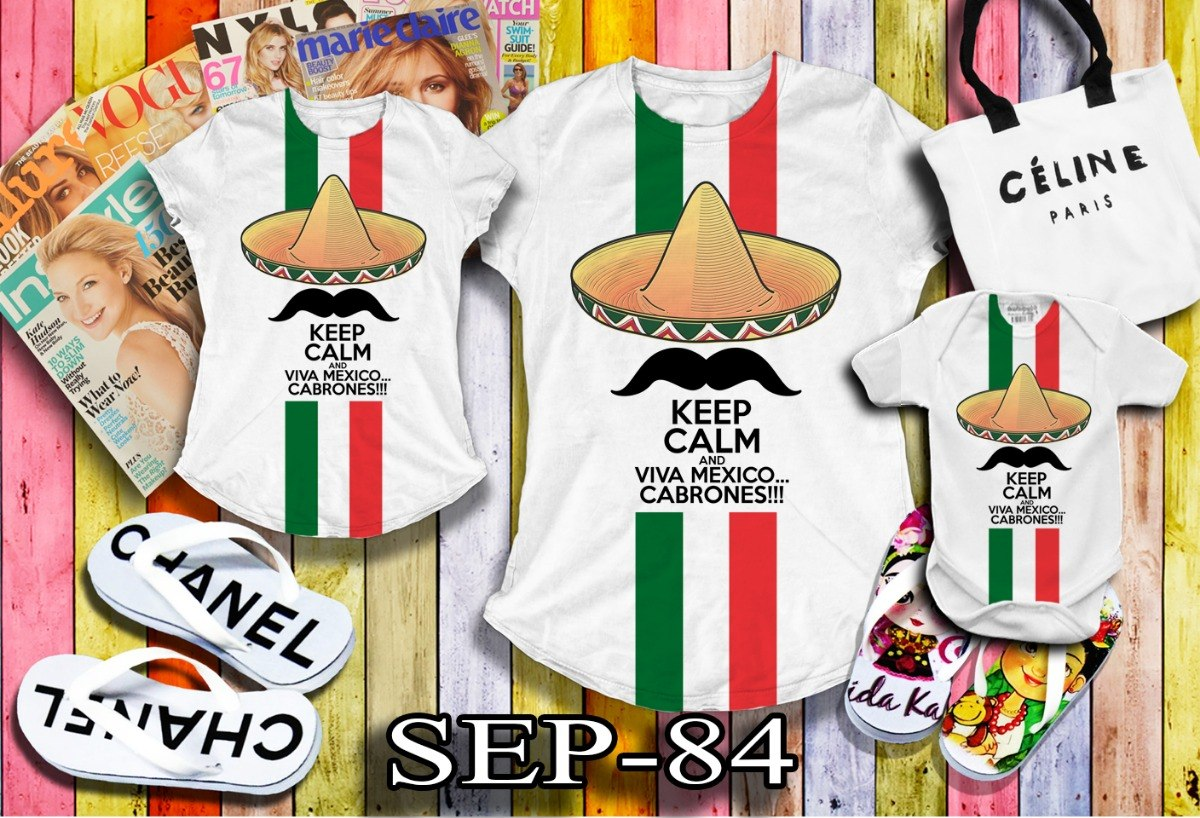 Playeras 15 De Septiembre Fiestas Patrias Septiembre 84 -   170.00 ... 2503b436e2989