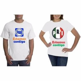 4c5074f1e840f Playera Para Campaña Politica A Solo  8.5 Blanca De 120 Gr ...