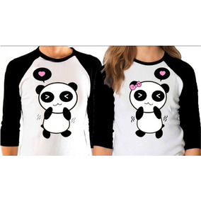 5445379483ef6 Par De Playeras Beisboleras Amor Pareja Novios Osos Panda