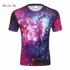 b55902b84edaa Devin Du 2018 Moda T-shirt Hombres Espacio Galaxy Impreso 3d