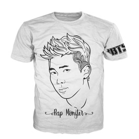 b31c18d2dfd06 Bts Playera Rap Monster K-pop Dama Y Caballero