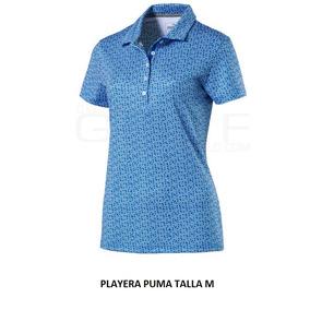 410e001242428 Playera Puma Tipo Polo De Dama Talla M Azul Cielo