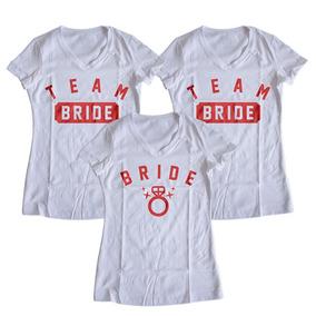 6744b2001 Camiseta Playera Mujer Team Bride Equipo De La Novia College. Nuevo León ·  Paquete De 3 Playeras Bride
