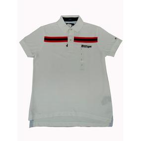 65faaa287b19c Playera Tipo Polo Blanca Edwin Cf 100% Algodón