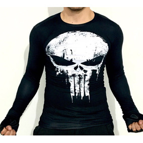 e48e61ca6309f Playera Punisher Marvel Dc Comics Gym Superheroe Compresion