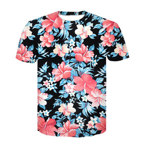 4742303c62169 Devin Du 2018 Nueva Llegada Hiphop 3d Camiseta Rojo Flores H