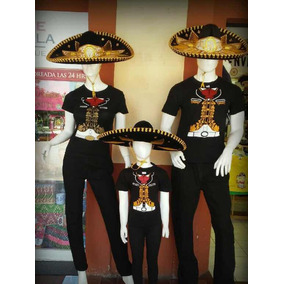 a33d5c7a51c05 Playera Charro Mariachi Mexico Dama Caballero Y Niño