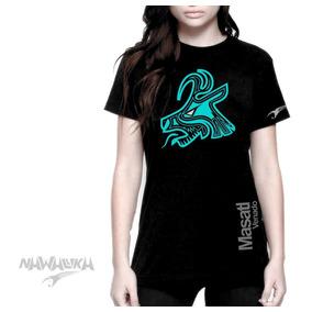 b0e99b4566319 Playera Dama Nawallika Mazatl Venado Diseño Mexa Azteca