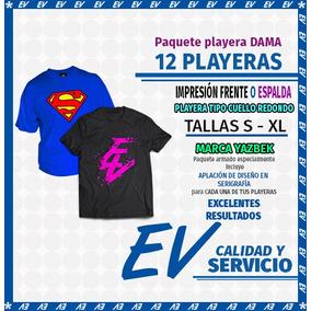 9678bf3739f41 Playera Impresa En Serigrafia 1 Tinta Frente Y Vuelta  45.00 ...