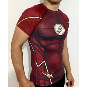 de6534d3aacdf Flash Playera Dc Comics Compresion Liga Justicia Superheroe