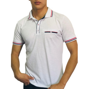 9567a861c4cd1 Playera Tipo Polo Slim Fit Peaceful Clothing Blanca