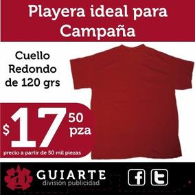4734c47f6375f Playera Roja Ideal Campaña Política 120 Grms