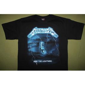 b425577c44e60 Gusanobass Playera Rock Metal Metallica Ride Talla X L