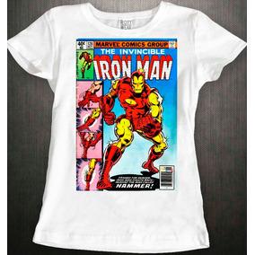 17d218cd035de Playera Con Luz Led De Iron Man Para Mujer Talla Xl - Playeras XL ...
