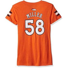 f8a4de4371cd9 Nfl Girls 7-16 Von Miller Denver Broncos Camiseta Con Cuello