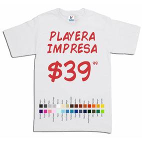 dcbd720a0fbcf Playeras Mayoreo Menudeo Impresa Serigrafia en Mercado Libre México