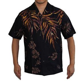 2ec55e24b7c55 Isla De Helecho De Hombre Deja Camisa Hawaiana Aloha L
