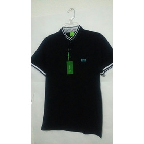 175c9c771d2c6 Playera Hugo Boss Cuello Mao Negro