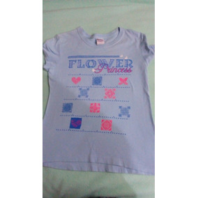 b03478c8167 Playera Camiseta Princesa Flor Para Dama Mediana Azul Claro.