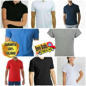 1402905591132 Playera Camisa Polo Basica Unisex Unitalla Slim Fit Colores
