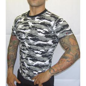 0a58b108c132b Playera Militar Blanco Con Negro Fit Gym Pegada