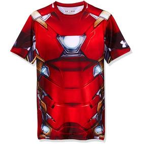 56115b00b1d06 Playera Iron Man Con Luz - Playeras Manga Corta de Hombre Rojo en ...