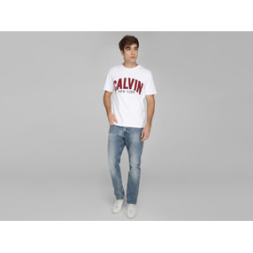 644a1ca044c22 Playera Calvin Klein Corte Regular Fit Cuello Redondo Blanca