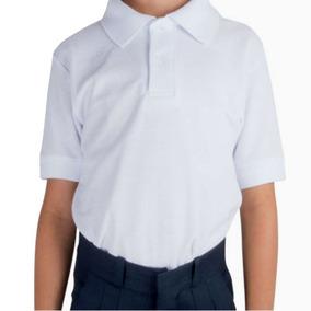 c90786df39a89 Playera Tipo Polo Color Blanco Para Niño - Ropa