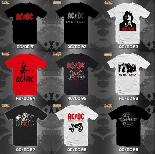 playeras ac dc ac/dc rock - 15 modelos disponibles!!