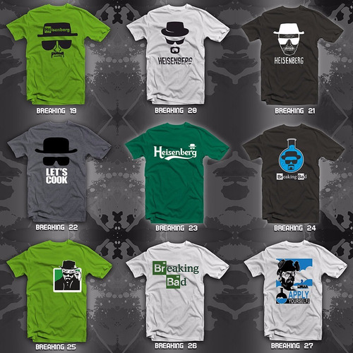 playeras breaking bad heisenberg 30 modelos disponibles!!!!