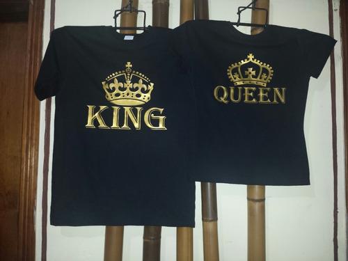 foto de Playeras Conjunto Pareja Novios King Queen Regalo Perfecto