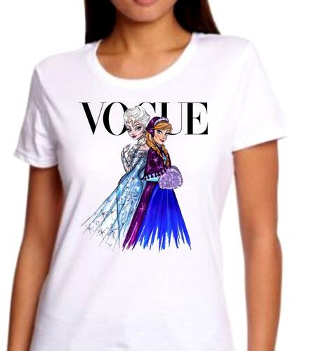 playeras de moda vogue, celine, frida kahlo, princesas