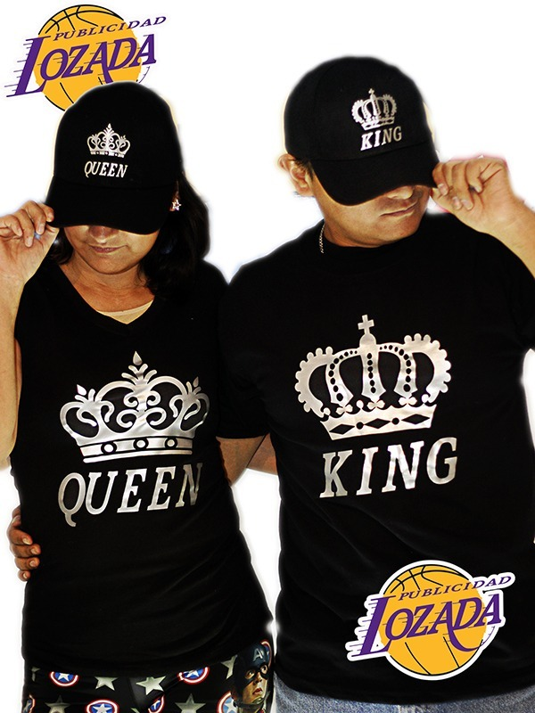 a4eaf5c672125 Playeras De Pareja King Queen -   400.00 en Mercado Libre