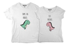 disponible gran ajuste salida online Playeras De Pareja Novios Dinosaurios Abrazo Camisetas Amor