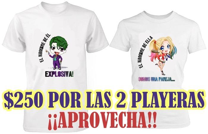 Playeras De Pareja Personalizadas!! Increibles Diseños!!!2x1 ... 8b86f670bfa2f