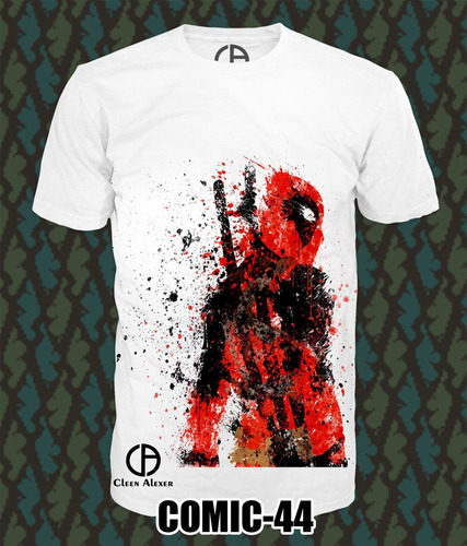 playeras deadpool  superman batman marvel y mas