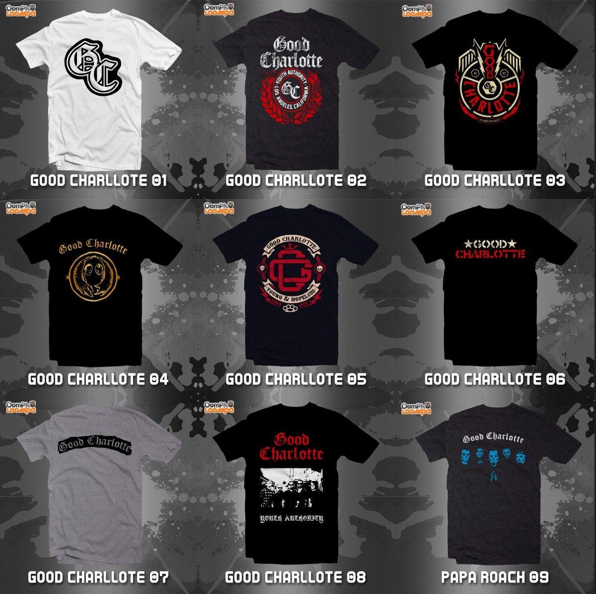 Playeras Good Charlotte - 9 Diseños Disponibles -   180.00 en ... 59d79689694a9