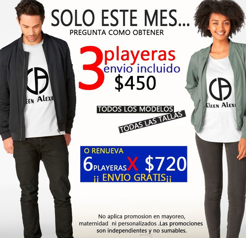 playeras hombre ropa