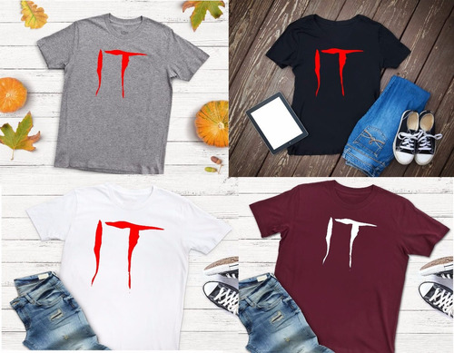 playeras hombre/mujer halloween penny wise, it, eso a