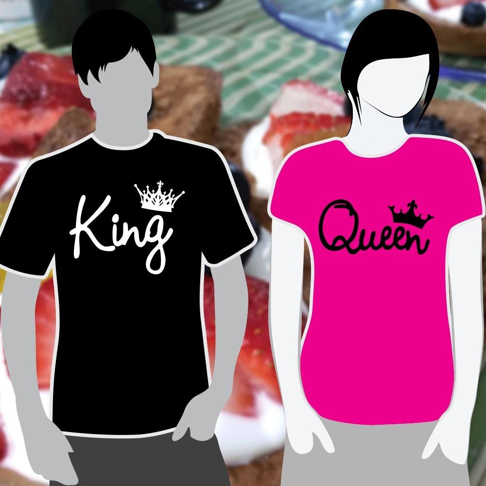 01ae983475047 Playeras King Queen (para Parejas) Rey Reyna -   400.00 en Mercado Libre