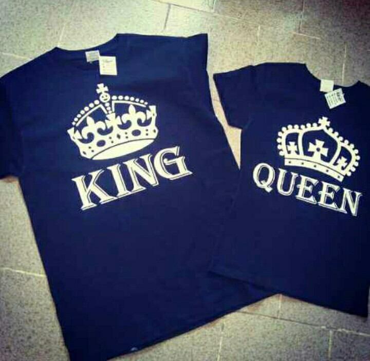 foto de Playeras Novios King Queen Conjunto Parejas Regalo