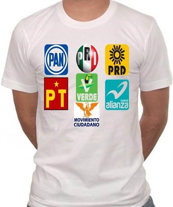 c8272fc428e36 Playeras Para Campañas Póliticas Blanca -   12.80 en Mercado Libre