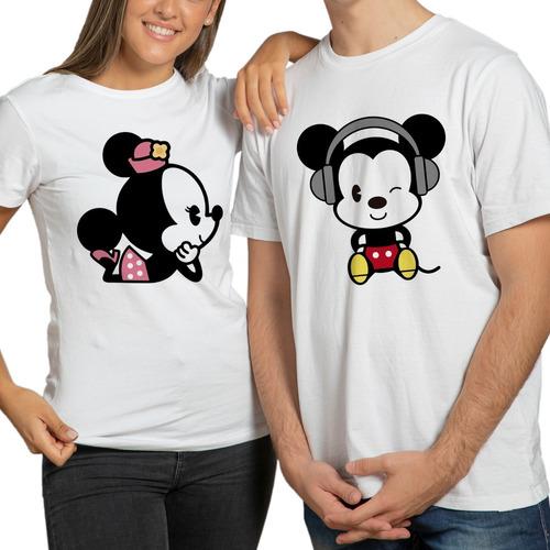 playeras pareja minnie mickey mouse novios par