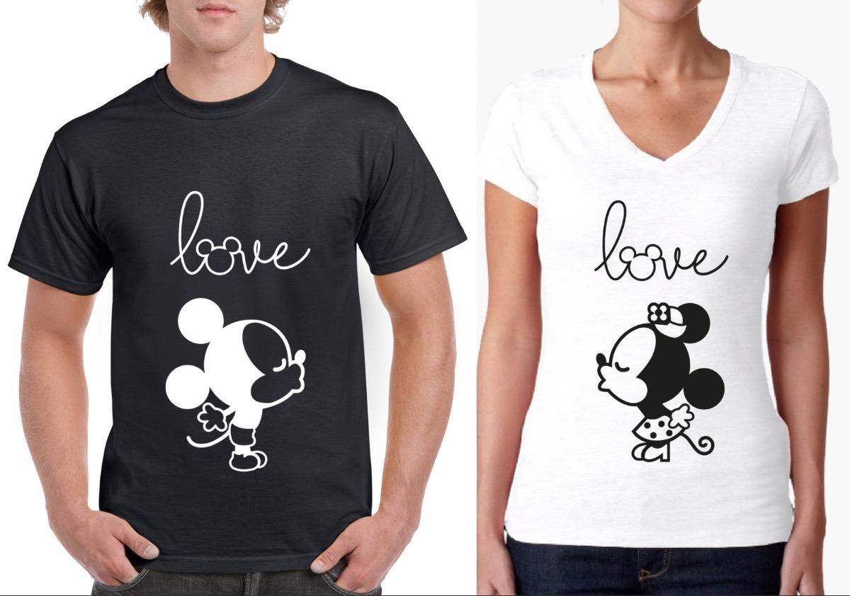 744137d107028 playeras parejas amor personalizadas mickey mouse novios. Cargando zoom.