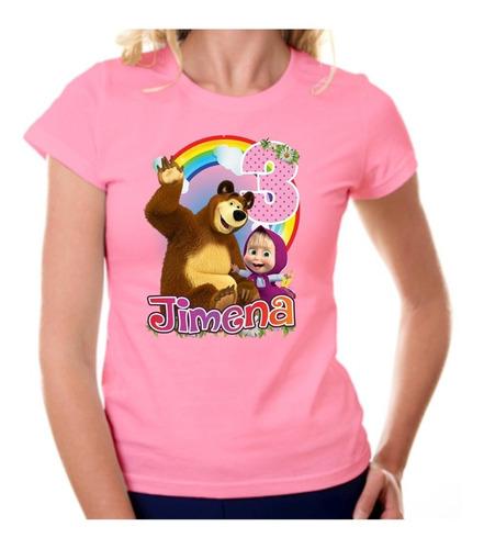 playeras personalizadas masha y el oso colores