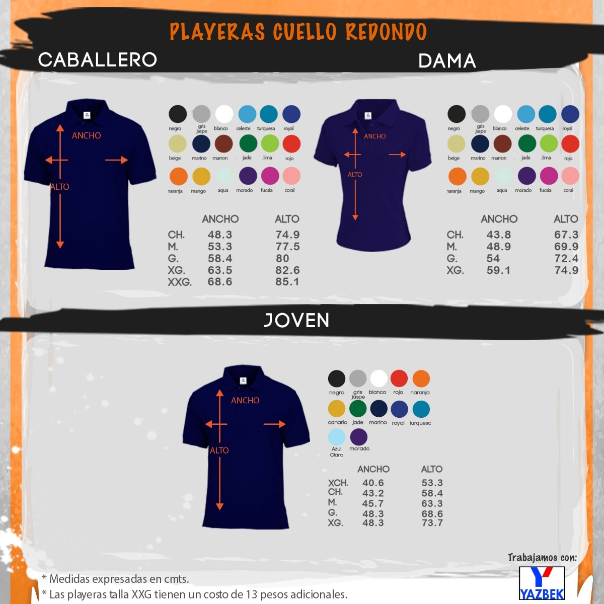 f2f6ee89f0465 Playeras Polo Yazbek Dama Y Caballero-18 Colores Disponibles ...