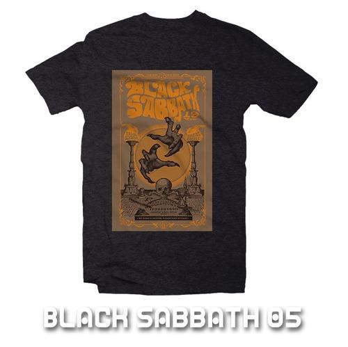 playeras poster black sabbath - 9 modelos disponibles